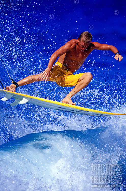 Man surfing on the south shore of Maui