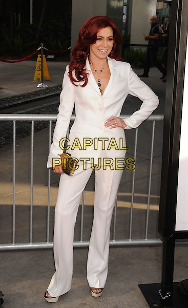 Carrie Preston.'True Blood' Season 5 Los Angeles Premiere at ArcLight Cinemas Cinerama Dome, Hollywood, California, USA..May 30th, 2012.full length white suit hand on hip  .CAP/ROT/TM.© TM/Roth/Capital Pictures