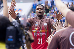 San Pablo Burgos Deon Thompson during Liga Endesa match between San Pablo Burgos and Gipuzkoa Basket at Coliseum Burgos in Burgos, Spain. December 30, 2017. (ALTERPHOTOS/Borja B.Hojas)