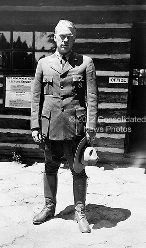 Ann Arbor, MI - FILE --  Gerald Ford as a ranger at Yellowstone National Park.  Date: June 1936<br /> Credit: Courtesy Gerald R. Ford Library via CNP