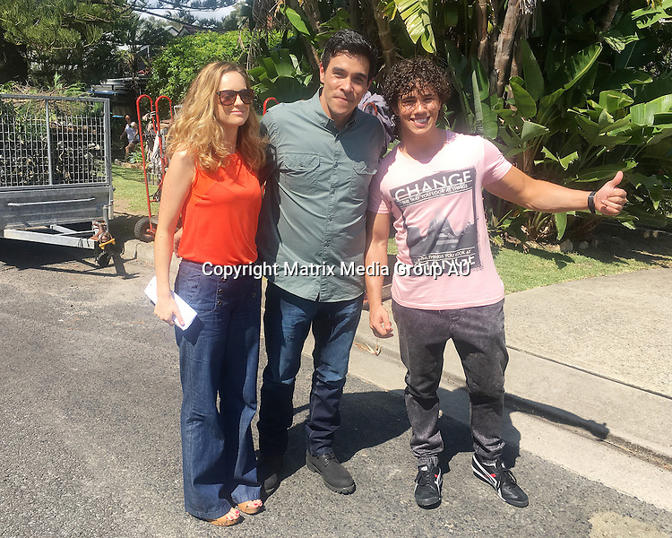 7th December, 2015 <br /> SYDNEY, AUSTRALIA<br /> <br /> EXCLUSIVE PICTURES<br /> Home &amp; Away filming at  &quot;Summer Bay&quot; with new character, James Stewart, Penny Mcnamee, Orpheus and Isabella Giovinazzo<br /> <br /> *ALL WEB USE MUST BE CLEARED*<br /> <br /> Please contact prior to use:  <br /> <br /> +61 2 9211-1088 or email images@matrixmediagroup.com.au <br /> <br /> Note: All editorial images subject to the following: For editorial use only. Additional clearance required for commercial, wireless, internet or promotional use.Images may not be altered or modified. Matrix Media Group makes no representations or warranties regarding names, trademarks or logos appearing in the images.