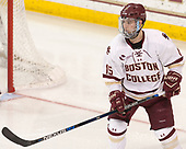 JD Dudek (BC - 15) - The visiting Merrimack College Warriors defeated the Boston College Eagles 6 - 3 (EN) on Friday, February 10, 2017, at Kelley Rink in Conte Forum in Chestnut Hill, Massachusetts.