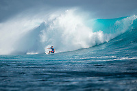 Namotu Island, Fiji (Monday, June 15, 2015) taj Burrow (AUS) - Pumping 10-to-12 foot (3 - 3.5 metre) waves were on offer at the primary venue of Cloudbreak today as the world&rsquo;s best surfers whittled the competitive field down to the final eight at the Fiji Pro.<br /> <br />  <br /> Stop No. 5 of 11 on the 2015 WSL Championship Tour (CT), the Fiji Pro saw a major ratings shakeup yesterday when wildcard Dane Reynolds (USA) eliminated Jeep Ratings frontrunner Adriano de Souza (BRA) in Round 3 of competition. The upsets continued today with Kai Otton (AUS) ousting No. 2 Filipe Toledo (BRA) during this morning&rsquo;s Round 3 bout.<br /> The afternoon&rsquo;s Round 5 action was punctuated with high drama in Brazilian rookie Italo Ferreira&rsquo;s elimination of 11-time WSL Champion and four-time Fiji Pro winner Kelly Slater (USA) in the opening heat of the round.<br />  <br /> As the surf built throughout the day, so did the performances of the world&rsquo;s best surfers. <br /> <br /> Other Round 5 victors included Taj Burrow (AUS) over Dane Reynolds (USA), Kai Otton (AUS) over Mick Fanning (AUS) and Owen Wright (AUS) posting a Perfect 20 out of 20 en route to defeating Adam Melling (AUS). Wright&rsquo;s commitment to placing himself as deep and critically as possible in the barrel was phenomenal this afternoon, netting the Australian only the seventh Perfect Heat Total in the sport&rsquo;s history.<br /> Photo: joliphotos.com