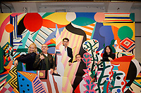 NEW YORK CITY - APRIL 19: (L-R) Poppy Delevingne, Antonio Banderas, Alex Rich, T. R. Knight and Samantha Colley attend the GENIUS: PICASSO interactive experience at the Genius: Studio, 100 Avenue of the Americas in New York City on April 19, 2018.  The Genius: Studio is an interactive installation designed to inspire people to create their own masterpieces. (Photo by Kena Betancur/National Geographic/PictureGroup)