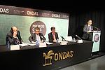 Alejandro Nieto, Augusto Delkader, Juan Pablo Alvarez & Josep M. Marti. Premios Ondas 2012. Lectura fallo del Jurado.