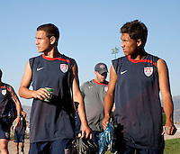 Luis Gil and Dustin Corea at training. 2009 CONCACAF Under-17 Championship From April 21-May 2 in Tijuana, Mexico