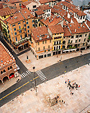 ITALY, Verona, elevated view of Piazza Delle Erbe and cityscape