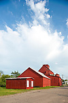 Grain elevator and warehouse, clearing storm, Dryden, Mich.