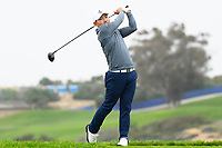 26th January 2020, Torrey Pines, La Jolla, San Diego, CA USA; Sung Kang tees off on the 5th hole on the South Course during the final round of the Farmers Insurance Open golf tournament at Torrey Pines Municipal Golf Course on January 26, 2020.