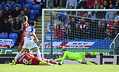 9th September 2017, Madejski Stadium, Reading, England; EFL Championship football, Reading versus Bristol City; Frank Fielding of Bristol City saves a shot at goal