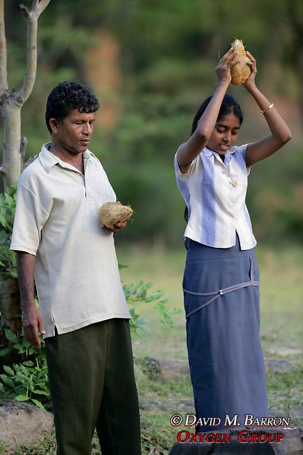 Sri Lankan's In Religious Ceremony