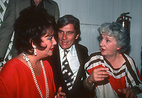 Taylor Warner1964.JPG<br /> Celebrity Archaeology <br /> New York City<br /> 1981 FILE PHOTO<br /> Liz Taylor John Warner Maureen O'Hara<br /> Photo by Adam Scull-PHOTOlink.net