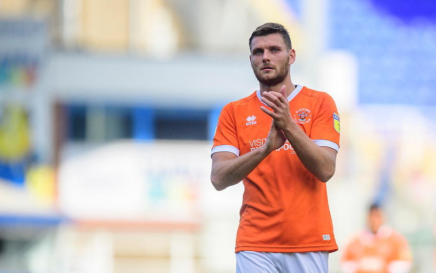 Blackpool's Ryan Edwards applauds the fans at the final whistle<br /> <br /> Photographer Chris Vaughan/CameraSport<br /> <br /> The EFL Sky Bet League One - Coventry City v Blackpool - Saturday 7th September 2019 - St Andrew's - Birmingham<br /> <br /> World Copyright © 2019 CameraSport. All rights reserved. 43 Linden Ave. Countesthorpe. Leicester. England. LE8 5PG - Tel: +44 (0) 116 277 4147 - admin@camerasport.com - www.camerasport.com