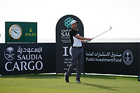 Ross Fisher (ENG) on the 16th during Round 3 of the Saudi International at the Royal Greens Golf and Country Club, King Abdullah Economic City, Saudi Arabia. 01/02/2020<br /> Picture: Golffile | Thos Caffrey<br /> <br /> <br /> All photo usage must carry mandatory copyright credit (© Golffile | Thos Caffrey)
