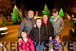 Kira O'Shea, Ian O'Shea, Emily, Dylan O'Shea, Noelle O'Shea, kylie O'Shea,  from Shanakill Tralee at the fireworks on Denny Street on Saturday night