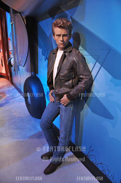 James Dean waxwork figure - grand opening of Madame Tussauds Hollywood. The new $55 million attraction is the first ever Madame Tussauds in the world to be built from the ground up. It is located on Hollywood Boulevard immediately next to the world-famous Grauman's Chinese Theatre..July 21, 2009  Los Angeles, CA.Picture: Paul Smith / Featureflash