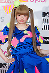 June 23, 2012, Chiba, Japan - KYARYPAMYUPAMYU pose on the red carpet during the MTV Video Music Awards Japan event. (Photo by Christopher Jue/AFLO)