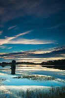 Waulkmill Reservoir at dawn, Dams to Darnley Country Park, Barrhead, East Renfrewshire