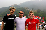 Australian swim team members and their coaches enjoy a day out after the conclusion of cometition on the Great Wall of China. Badaling, 16 September, 2008