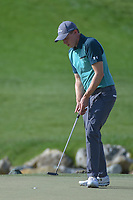 Matt Fitzpatrick (ENG) sinks his putt on 13 during round 3 of the Arnold Palmer Invitational at Bay Hill Golf Club, Bay Hill, Florida. 3/9/2019.<br /> Picture: Golffile | Ken Murray<br /> <br /> <br /> All photo usage must carry mandatory copyright credit (&copy; Golffile | Ken Murray)