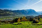 View from Seveler Berg into the Rhine-valley and the Principality of Liechtenstein. Sevelen, St. Gallen, SG, Schweiz, Switzerland.<br /> <br /> Foto: Paul J. Trummer