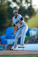 Winston-Salem Dash starting pitcher Jorgan Cavanerio (36) in action against the Myrtle Beach Pelicans at TicketReturn.com Field on May 16, 2019 in Myrtle Beach, South Carolina. The Dash defeated the Pelicans 6-0. (Brian Westerholt/Four Seam Images)