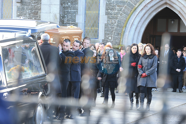 The funeral of Peter Butterly in Togher Co Louth..Picture: Fran Caffrey / www.newsfile.ie ..