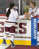 Dana Trivigno (BC - 8), Brooke DiBona - The Boston College Eagles defeated the visiting Providence College Friars 7-1 on Friday, February 19, 2016, at Kelley Rink in Conte Forum in Boston, Massachusetts.