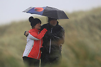 Shelter on the 13th tee during Round 2 of the Ulster Boys Championship at Portrush Golf Club, Portrush, Co. Antrim on the Valley course on Wednesday 31st Oct 2018.<br /> Picture:  Thos Caffrey / www.golffile.ie<br /> <br /> All photo usage must carry mandatory copyright credit (&copy; Golffile | Thos Caffrey)