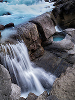 Lower Sunwapta Falls. Jasper National Park, Alberta, Canada