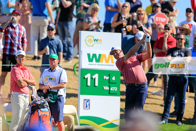 Harris English (USA) on the 11th tee during the 2nd round of the Waste Management Phoenix Open, TPC Scottsdale, Scottsdale, Arisona, USA. 01/02/2019.<br /> Picture Fran Caffrey / Golffile.ie<br /> <br /> All photo usage must carry mandatory copyright credit (&copy; Golffile | Fran Caffrey)