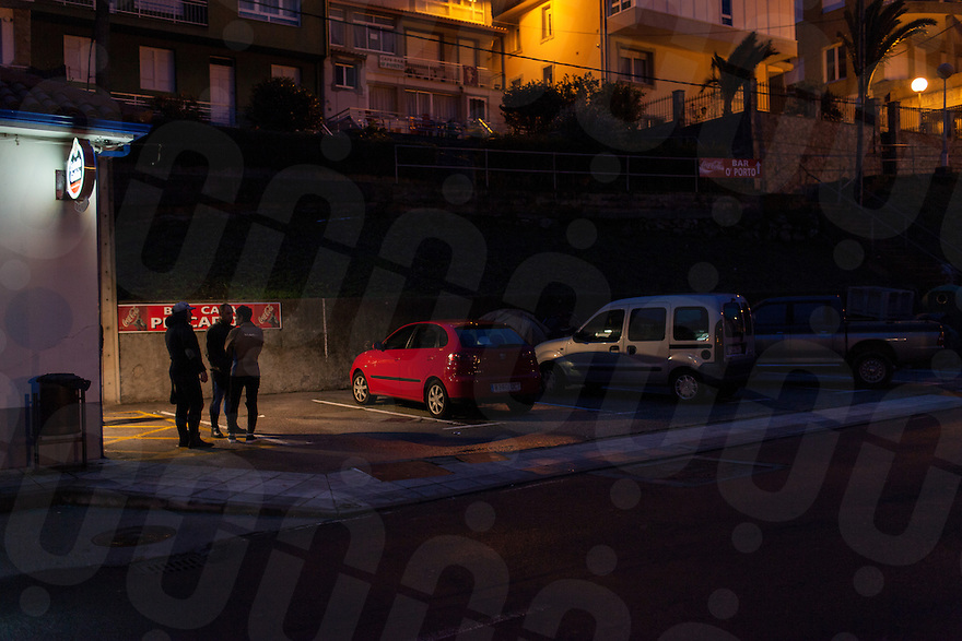 December 13, 2011 - Laxe (La Coruña). 8 am at the bar. It's the moment when the percebeiros discuss about the situation of the sea and how they can work that day. © Thomas Cristofoletti 2011