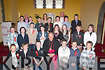 Delighted with themselfs after they were confirmed by Bill Murphy at The Church of the Purifcation Churchill, on Monday were the pupils of St Brendan's National School, Fenit also in pic were their teachers Padraig O'Connell and Aisling O'Sullivan and Fr Denis O'Mahony.   Copyright Kerry's Eye 2008