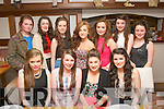 TEEN SCENE: 15 years old pals Courtney Hurley and Emer McCarthy from Ballymac (seated 2nd and 3rd left) celebrating their birthdays last Friday night in La Scala, Tralee. Pictured seated l-r: Mairead Dineen, Courtney Hurley and Emer McCarthy and Sarah Sheehan. Back l-r: Hanna McCarthy, Nell O'Connor, Kate Kennedy, Niamh O'Connor, Clodagh McKenna, Nicole Broderick with Michelle McCarthy.