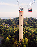 SINGAPORE, elevated view of cable car at Sentosa island