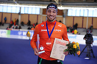 SPEEDSKATING: BERLIN: Sportforum Berlin, 28-01-2017, ISU World Cup, 1000m Men A Division, Kjeld Nuis (NED), Track record, ©photo Martin de Jong