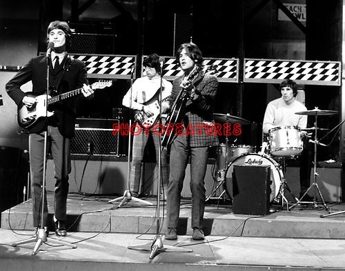 KINKS1964 Ray Davies, Pete Quaife, Dave Davies and Mick Avory on Ready Steady Go..© Chris Walter ..