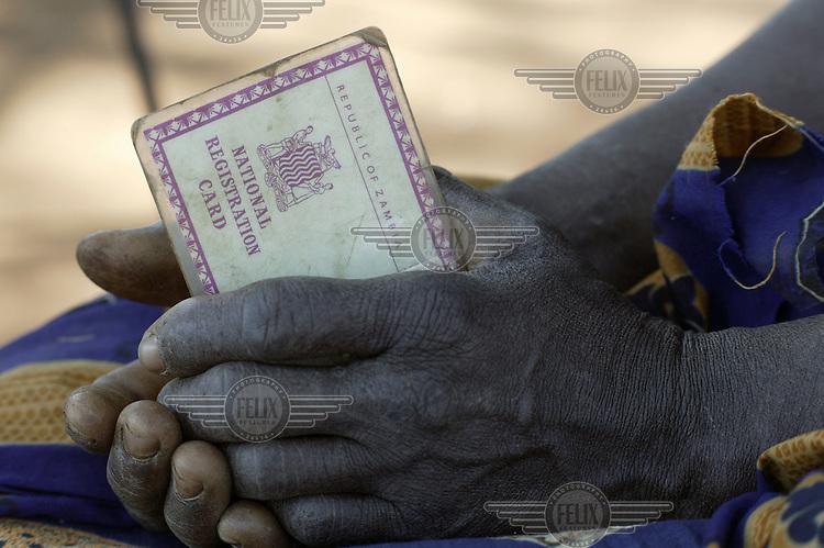 Zambian identity (ID) card.
