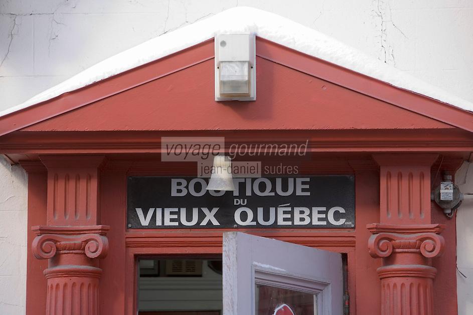 Amérique/Amérique du Nord/Canada/Québec/ Québec: Détail maisons Rue Saint-Louis dans la Ville-Haute