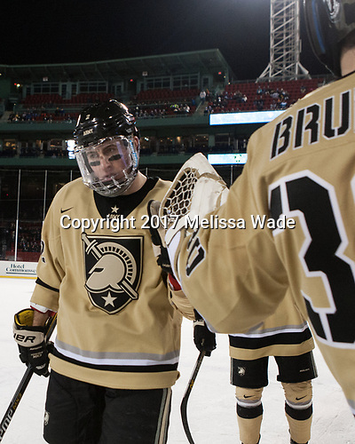 Dalton MacAfee (Army - 2) - The Bentley University Falcons defeated the Army West Point Black Knights 3-1 (EN) on Thursday, January 5, 2017, at Fenway Park in Boston, Massachusetts.The Bentley University Falcons defeated the Army West Point Black Knights 3-1 (EN) on Thursday, January 5, 2017, at Fenway Park in Boston, Massachusetts.