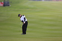 Fabrizio Zanotti (PAR) chips onto the 1st green during Saturday's Round 3 of the 2017 Omega European Masters held at Golf Club Crans-Sur-Sierre, Crans Montana, Switzerland. 9th September 2017.<br /> Picture: Eoin Clarke | Golffile<br /> <br /> <br /> All photos usage must carry mandatory copyright credit (&copy; Golffile | Eoin Clarke)