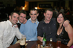 Damien Callan, Eoin O'Neill, Sean Callan, Alan Halpenny and Yvonne Finnegan in McHughs...Photo NEWSFILE/Jenny Matthews.(Photo credit should read Jenny Matthews/NEWSFILE)....This Picture has been sent you under the condtions enclosed by:.Newsfile Ltd..The Studio,.Millmount Abbey,.Drogheda,.Co Meath..Ireland..Tel: +353(0)41-9871240.Fax: +353(0)41-9871260.GSM: +353(0)86-2500958.email: pictures@newsfile.ie.www.newsfile.ie.FTP: 193.120.102.198.