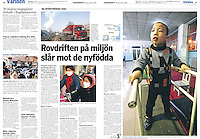 2 pages in weekly newspaper Sydsvenskan (Sweden), on January, 2, 2008. Photos by Lucas Schifres/Pictobank