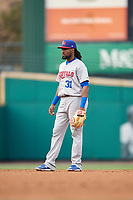 Buffalo Bisons second baseman Alen Hanson (31) during an International League game against the Rochester Red Wings on May 31, 2019 at Frontier Field in Rochester, New York.  Rochester defeated Buffalo 5-4 in ten innings.  (Mike Janes/Four Seam Images)