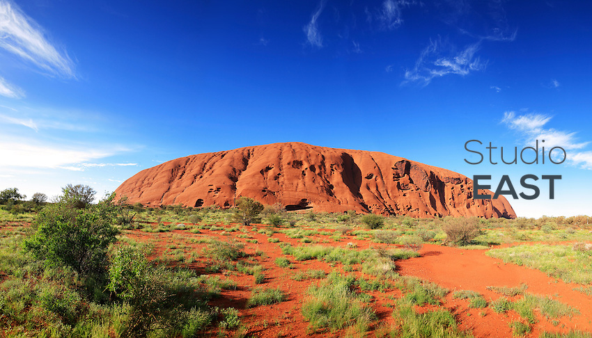 Ayers Rock, or Uluru, Northern Territory, Australia, on January 1, 2009. Photo by Lucas Schifres/Pictobank