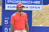 Joel Stalter (FRA) on the 18th tee during Saturday's Round 3 of the Porsche European Open 2018 held at Green Eagle Golf Courses, Hamburg Germany. 28th July 2018.<br /> Picture: Eoin Clarke | Golffile<br /> <br /> <br /> All photos usage must carry mandatory copyright credit (&copy; Golffile | Eoin Clarke)