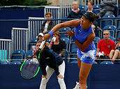June 16th 2017, The Northern Lawn tennis Club, Manchester, England; ITF Womens tennis tournament; Number one seed Kai-Chen Chang (TPE) in action during her quarter final singles match against number six seed Naomi Broady (GBR); Broady won in straight sets