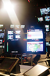 Screens inside of the newsroom at The Weather Channel in Atlanta, Georgia May 16, 2013.