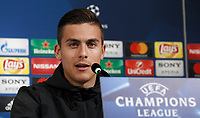 Juventus&rsquo; Paulo Dybala attends a press conference ahead of the Champions League round of 16 second leg soccer match against Porto, in Turin, 13 March 2017.<br /> UPDATE IMAGES PRESS/Isabella Bonotto