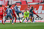14.04.2019, Merkur Spielarena, Duesseldorf , GER, 1. FBL,  Fortuna Duesseldorf vs. FC Bayern Muenchen,<br />  <br /> DFL regulations prohibit any use of photographs as image sequences and/or quasi-video<br /> <br /> im Bild / picture shows: <br /> torchaqnce fuer Robert Lewandowski (Bayern Muenchen #9), <br /> <br /> Foto &copy; nordphoto / Meuter